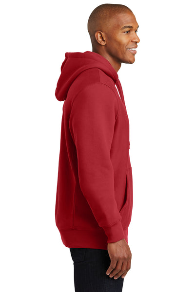 Sport-Tek F281 Mens Fleece Hooded Sweatshirt Hoodie Red Side