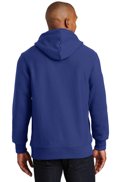 Sport-Tek F281 Mens Fleece Hooded Sweatshirt Hoodie Royal Blue Back