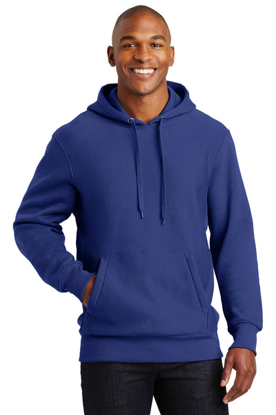 Sport-Tek F281 Mens Fleece Hooded Sweatshirt Hoodie Royal Blue Front