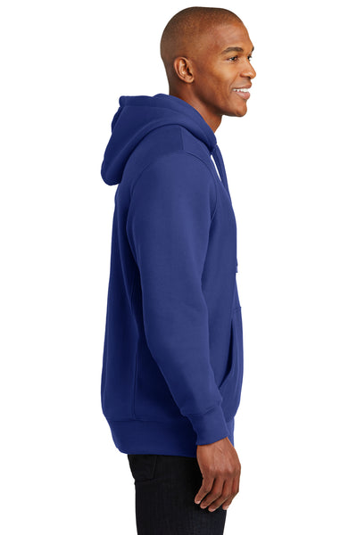 Sport-Tek F281 Mens Fleece Hooded Sweatshirt Hoodie Royal Blue Side