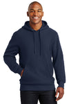 Sport-Tek F281 Mens Fleece Hooded Sweatshirt Hoodie Navy Blue Front