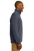 Port Authority F295 Mens Slub Fleece 1/4 Zip Sweatshirt Slate Grey Side