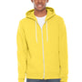 American Apparel Mens Sunshine Yellow Flex Fleece Full Zip Hooded Sweatshirt Hoodie