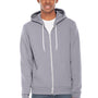 American Apparel Mens Slate Grey Flex Fleece Full Zip Hooded Sweatshirt Hoodie