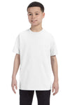 Gildan G500B Youth Short Sleeve Crewneck T-Shirt White Front