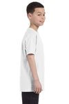Gildan G500B Youth Short Sleeve Crewneck T-Shirt White Side