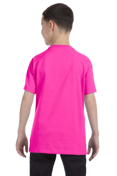 Gildan G500B Youth Short Sleeve Crewneck T-Shirt Azalea Pink Back