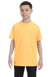 Gildan G500B Youth Short Sleeve Crewneck T-Shirt Yellow Haze Front