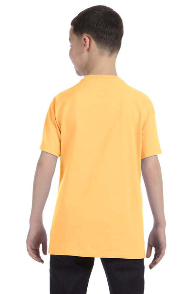 Gildan G500B Youth Short Sleeve Crewneck T-Shirt Yellow Haze Back
