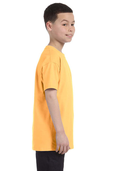 Gildan G500B Youth Short Sleeve Crewneck T-Shirt Yellow Haze Side