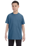 Gildan G500B Youth Short Sleeve Crewneck T-Shirt Indigo Blue Front