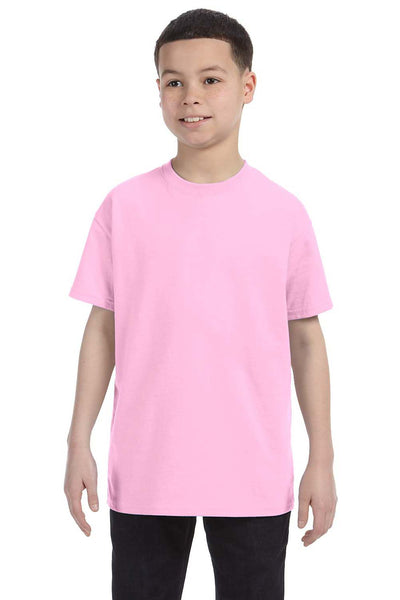 Gildan G500B Youth Short Sleeve Crewneck T-Shirt Light Pink Front