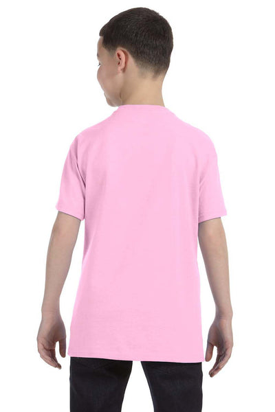 Gildan G500B Youth Short Sleeve Crewneck T-Shirt Light Pink Back