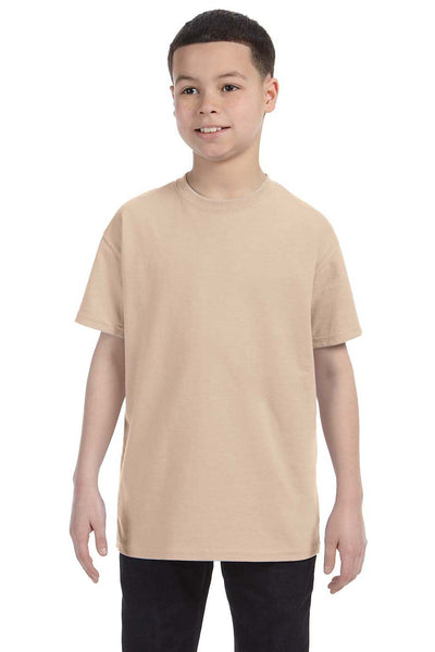 Gildan G500B Youth Short Sleeve Crewneck T-Shirt Sand Brown Front