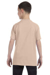 Gildan G500B Youth Short Sleeve Crewneck T-Shirt Sand Brown Back