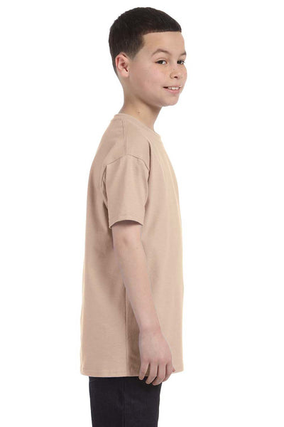 Gildan G500B Youth Short Sleeve Crewneck T-Shirt Sand Brown Side