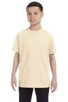 Gildan G500B Youth Short Sleeve Crewneck T-Shirt Natural Front
