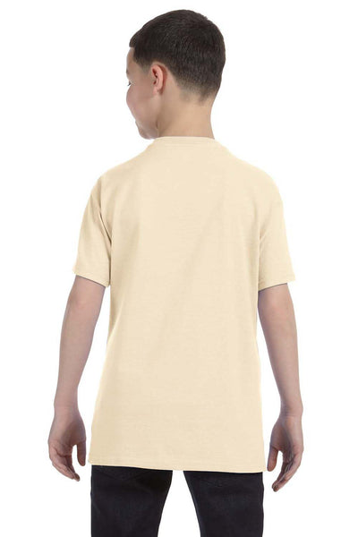 Gildan G500B Youth Short Sleeve Crewneck T-Shirt Natural Back