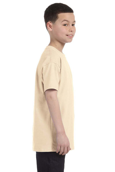 Gildan G500B Youth Short Sleeve Crewneck T-Shirt Natural Side