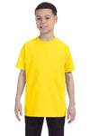 Gildan G500B Youth Short Sleeve Crewneck T-Shirt Daisy Yellow Front