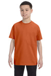 Gildan G500B Youth Short Sleeve Crewneck T-Shirt Texas Orange Front