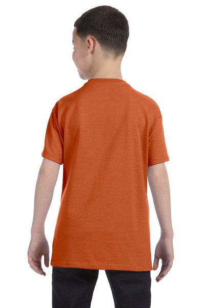 Gildan G500B Youth Short Sleeve Crewneck T-Shirt Texas Orange Back