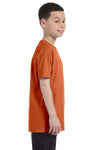 Gildan G500B Youth Short Sleeve Crewneck T-Shirt Texas Orange Side