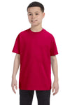 Gildan G500B Youth Short Sleeve Crewneck T-Shirt Garnet Red Front