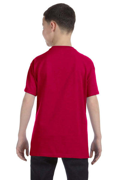 Gildan G500B Youth Short Sleeve Crewneck T-Shirt Garnet Red Back