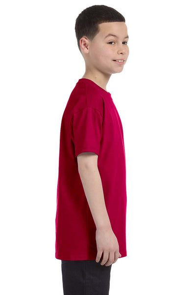 Gildan G500B Youth Short Sleeve Crewneck T-Shirt Garnet Red Side
