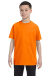 Gildan G500B Youth Short Sleeve Crewneck T-Shirt Tennessee Orange Front