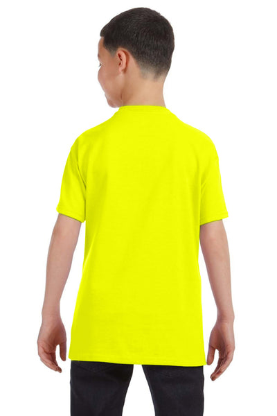 Gildan G500B Youth Short Sleeve Crewneck T-Shirt Safety Green Back