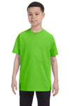 Gildan G500B Youth Short Sleeve Crewneck T-Shirt Lime Green Front