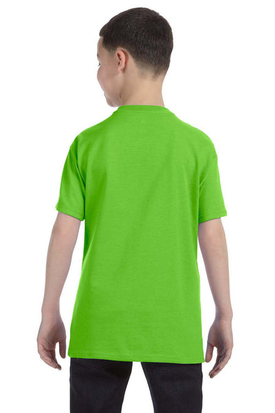 Gildan G500B Youth Short Sleeve Crewneck T-Shirt Lime Green Back