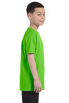 Gildan G500B Youth Short Sleeve Crewneck T-Shirt Lime Green Side