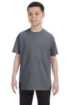 Gildan G500B Youth Short Sleeve Crewneck T-Shirt Charcoal Grey Front