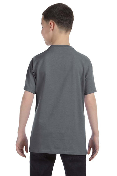 Gildan G500B Youth Short Sleeve Crewneck T-Shirt Charcoal Grey Back