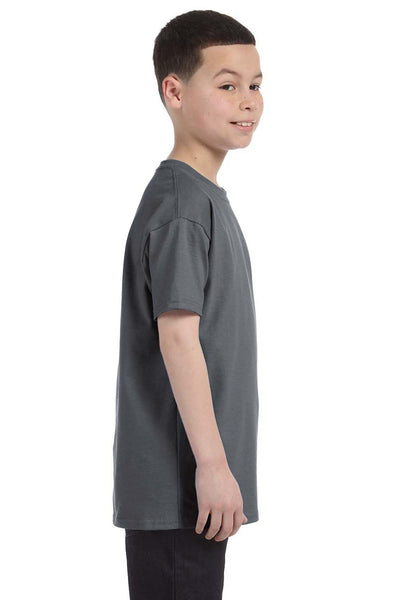 Gildan G500B Youth Short Sleeve Crewneck T-Shirt Charcoal Grey Side