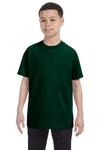 Gildan G500B Youth Short Sleeve Crewneck T-Shirt Forest Green Front
