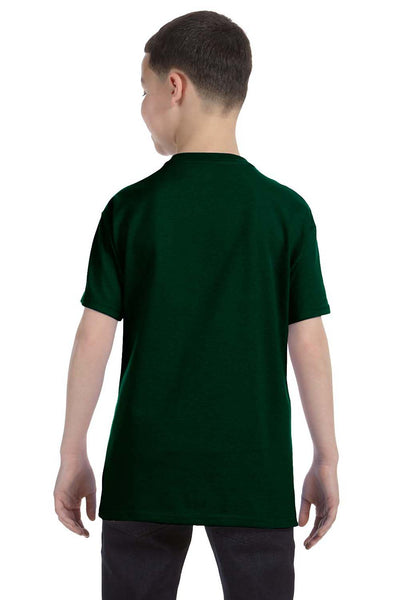 Gildan G500B Youth Short Sleeve Crewneck T-Shirt Forest Green Back