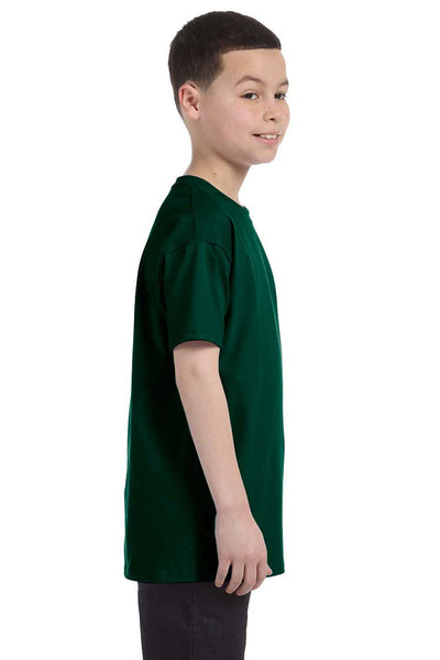 Gildan G500B Youth Short Sleeve Crewneck T-Shirt Forest Green Side