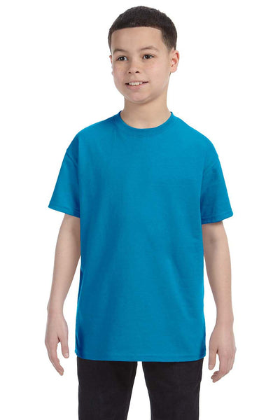 Gildan G500B Youth Short Sleeve Crewneck T-Shirt Sapphire Blue Front