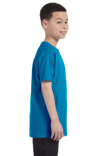 Gildan G500B Youth Short Sleeve Crewneck T-Shirt Sapphire Blue Side