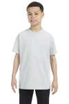 Gildan G500B Youth Short Sleeve Crewneck T-Shirt Ash Grey Front