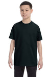 Gildan G500B Youth Short Sleeve Crewneck T-Shirt Black Front