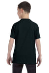 Gildan G500B Youth Short Sleeve Crewneck T-Shirt Black Back