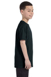 Gildan G500B Youth Short Sleeve Crewneck T-Shirt Black Side