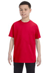 Gildan G500B Youth Short Sleeve Crewneck T-Shirt Red Front