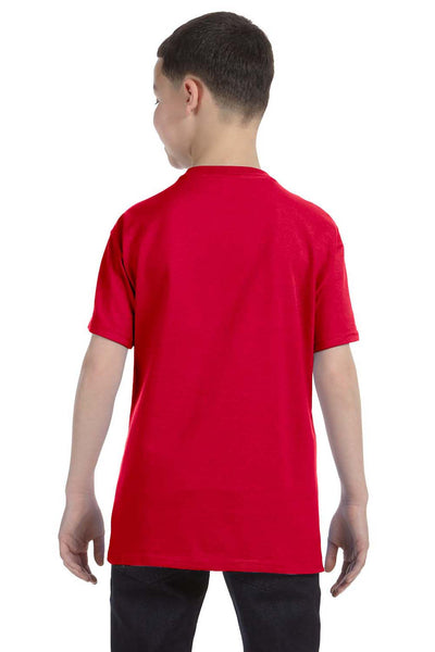 Gildan G500B Youth Short Sleeve Crewneck T-Shirt Red Back