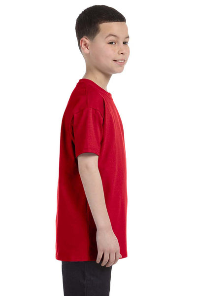 Gildan G500B Youth Short Sleeve Crewneck T-Shirt Red Side